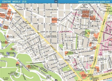 printable map barcelona city centre barcelona street map