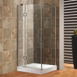 Combined Bath And Shower Units bathroom corner glass shower enclosure with black door