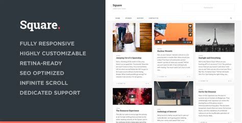 moodle themes squared square responsive multi purpose theme by parksandparker