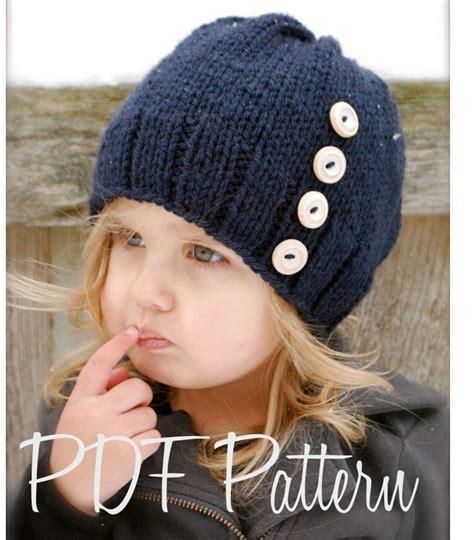 children s knitted hat patterns knitting pattern the hudson hat toddler child sizes