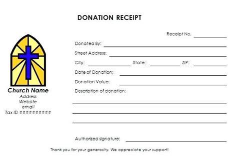non profit receipt template donation letter receipt church donation receipt form