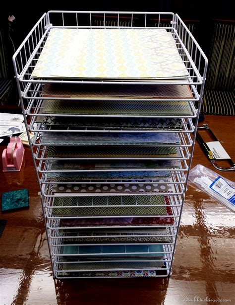 paper rack making a great scrapbook paper rack lil duckie arts