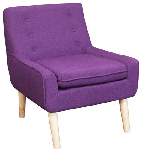 Purple Accent Chair Brocktson Fabric Retro Accent Chair Purple Midcentury Chairs By Great Deal Furniture