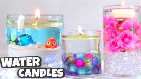 water vase centerpieces diy water candle vase centerpiece candles how to