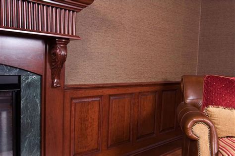 Cherry Wainscoting Cherry Library And Home Office In Ellicott City Maryland