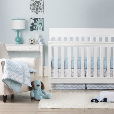 Fave Baby Bedding From Target by Trend Lab 3pc Crib Bedding Set Blue Sky Target