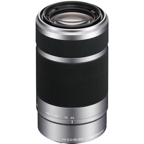 Lensa Sony Nex 55 210 sony e 55 210mm f 4 5 6 3 oss lens silver sel55210 b h photo