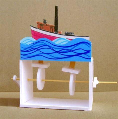 boat automata crafts  kids wood toys