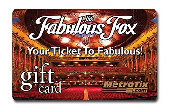 Fox Theater Gift Cards - gift cards metrotix