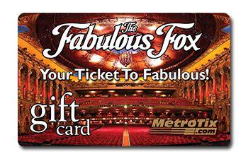 gift cards metrotix - Fox Theater Gift Card