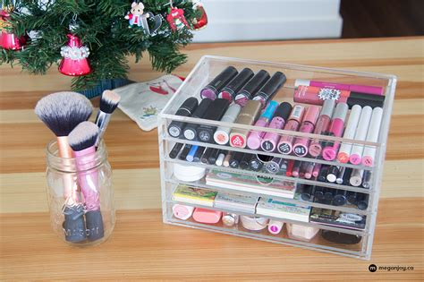 How To Organize Your Makeup Drawer by How To Organize Your Makeup With Muji Megan