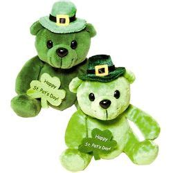 teddy rubber st st s day plush leprechaun teddy findgift