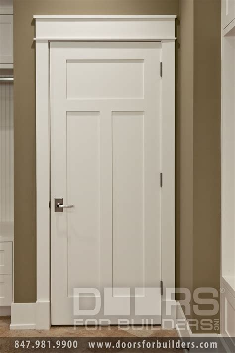 Trim Interior Door Craftsman Style Custom Interior Paint Grade Wood Door Custom Wood Interior Doors Door From