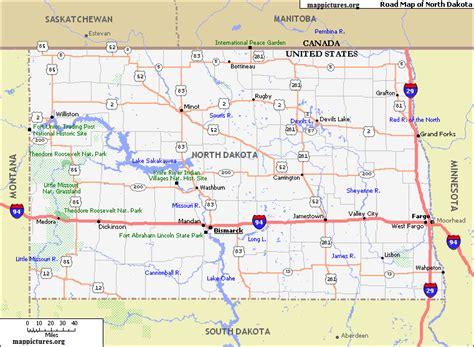printable north dakota road map america maps 187 page 4