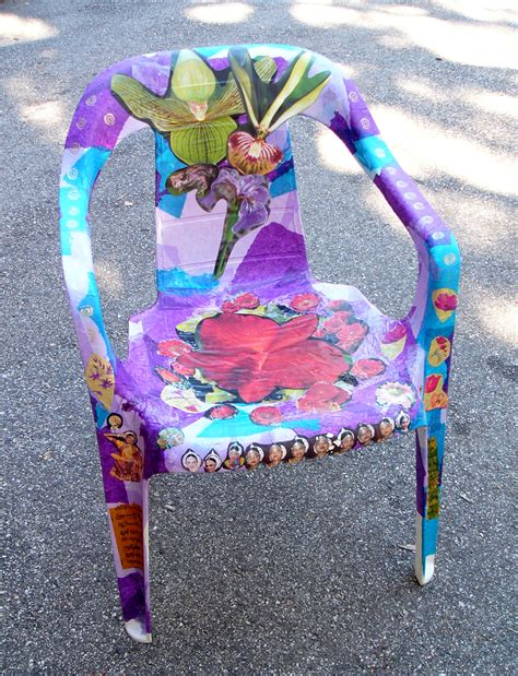 Decoupage On Plastic - the maker project repainting a kitchen chair