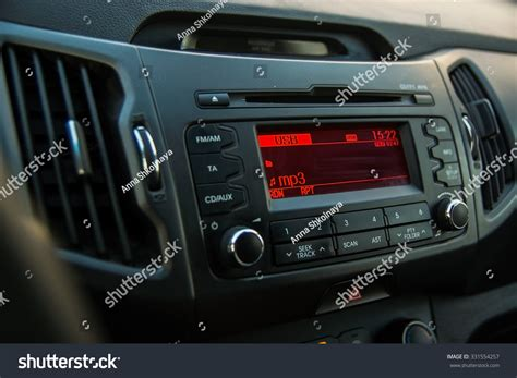 car audio system front panel stock photo 331554257
