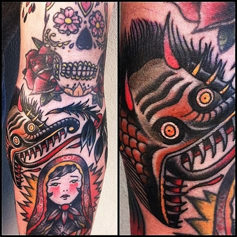 gap filler tattoos traditional strange creature gap filler by