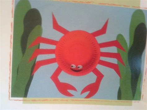 Paper Plate Crab Craft - paper plate crab paper plate crafts