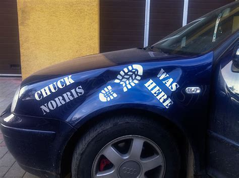 Aufkleber Chuck Norris by Sticker Quot Chuck Norris Was Here Quot Tribale Ro
