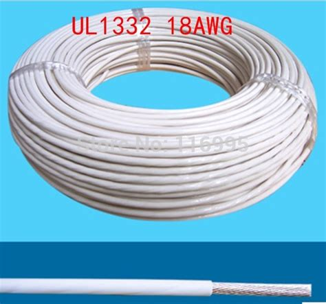 Promo Tokped Cable Teflon New free shipping 5meters 18 awg white ul1332 awm teflon wire high temperature line 300v in