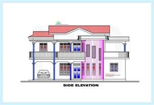 Side Elevation Srilankan Style Home Plan And Elevation 2230 Sq Ft