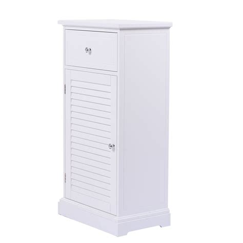 storage floor cabinet wall shutter door bathroom organizer