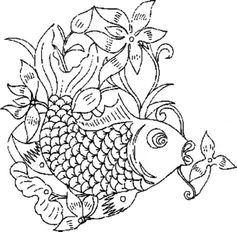 detailed fish coloring pages detailed pages fish coloring pages