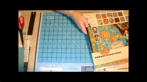 mini scrapbook tutorial youtube mini scrapbook tutorial using 1 sheet of 12x12 youtube