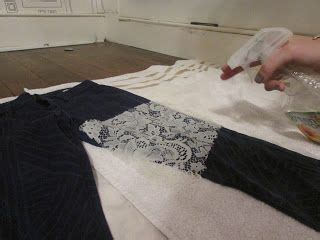 diy fade diy bleaching jeans w lace i might try this even on a