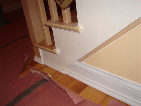 Baseboards Sizes by Baseboard To Stairs Trim Transition