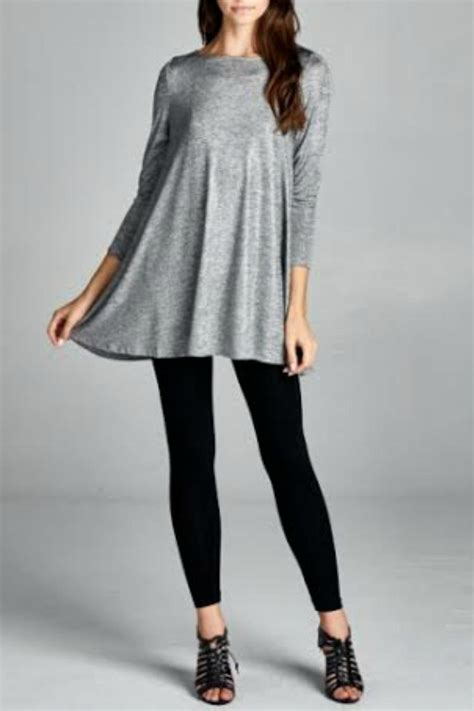 Great Hostess Gifts by Vivo Clothing Metallic Silver Tunic From Idaho By Garment