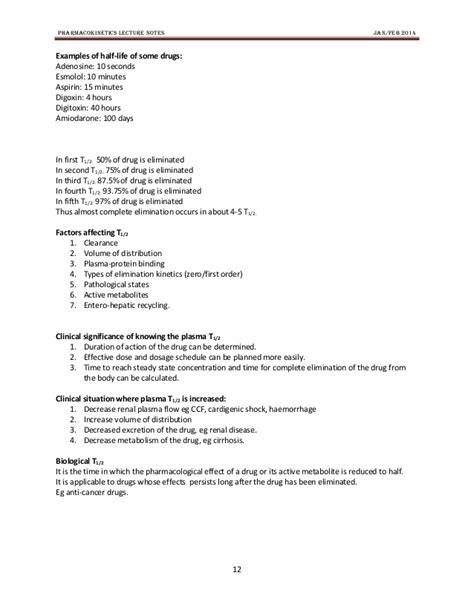pattern classification lecture notes pharmacokinetics lecture notes pharmacology