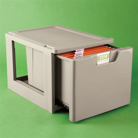 Stackable File Drawers by Taupe Stackable Storage File Drawer The Container Store