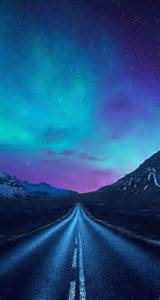 Aurora borealis a road iphone wallpaper tags astronomy aurora borealis