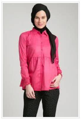 Baju Muslim Kemeja 15 model baju kemeja kerja wanita muslimah terbaru 2017