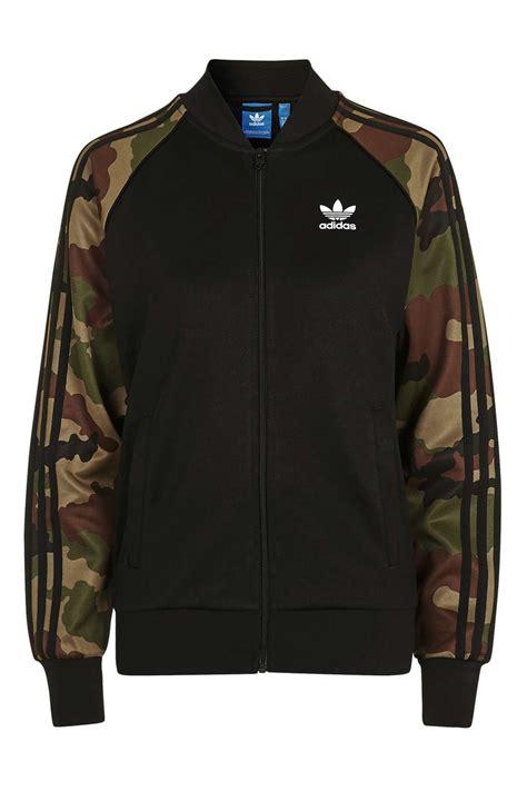 Adidas Superstar Camoflage Black camouflage sleeve track top by adidas originals topshop