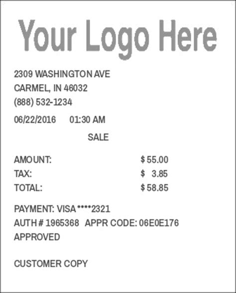 make payment to store card template of receipt studio design gallery best design