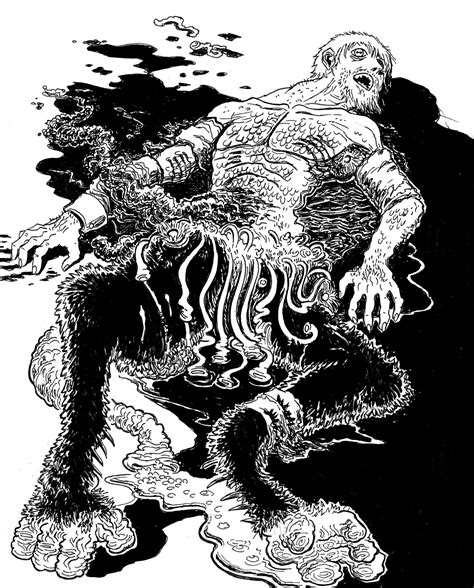 H P Lovecraft Sketches by Lovecraftian Sketch Mwf The Dunwich Horror 2 Mockman