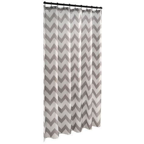 geometric shower curtains shop allen roth polyester grey geometric shower curtain