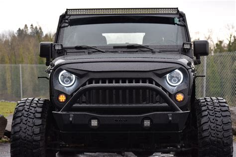 Jeep Wrangler Projector Headlights Halo Vader Grille