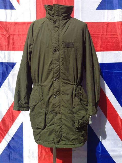 Jaket Ex Weareone Navy ex army swiss quilted lined cold weather jacket