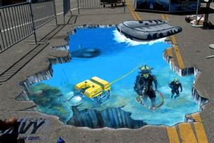 3d paintings 3d street art we talk chalk 3d street painting