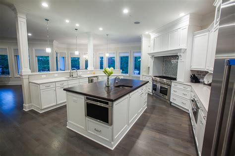 kitchen features all white custom kitchen features bright modern decor by