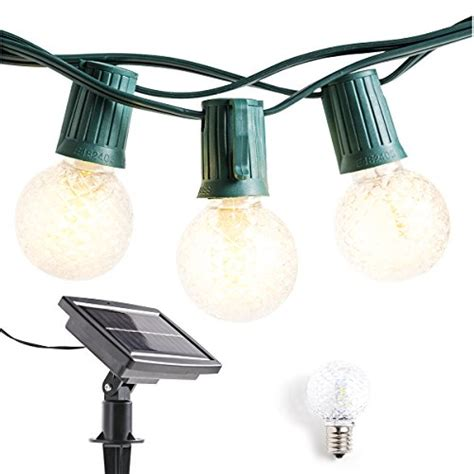solar powered outdoor string lights patio lights 40ft