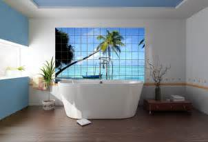 Beach Bathroom Design by Photo Tiles For Kitchens And Bathrooms