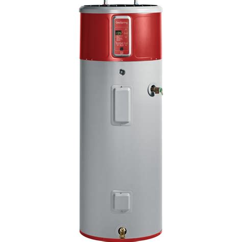 heat pump water heater lowes shop ge geospring 50 gallon electric water heater with