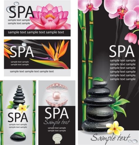 design banner spa free natural body spa business card and banner designs