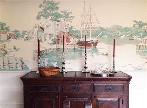 dining room wall murals thibaut nautical wallpaper mural a wonderful addition to