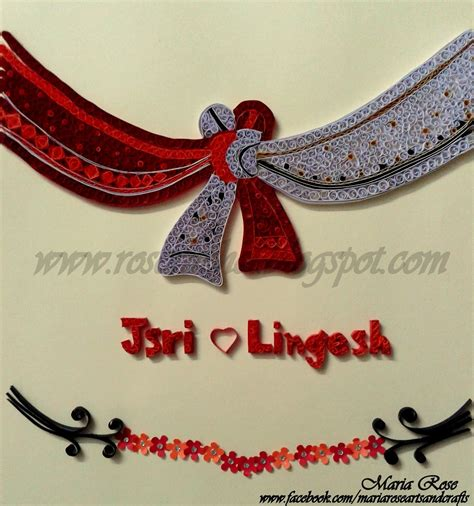 wedding knot leisure space quilled wedding knot