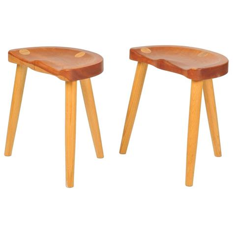 Studio Stools by Handcrafted Tripod Studio Stools By Robert Roakes At 1stdibs